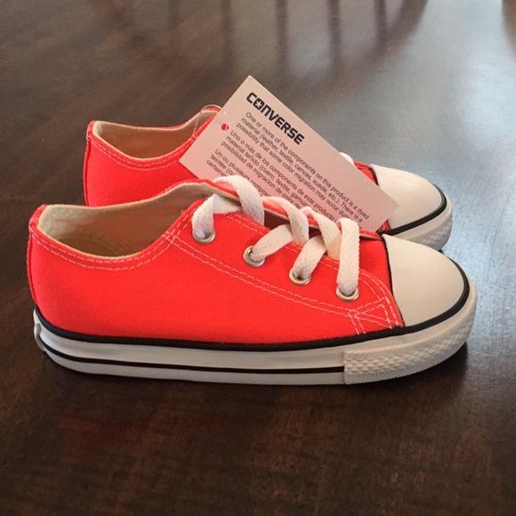 Toddler Converse All Stars Neon Orange Size 9 NWT